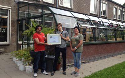 Donatie voor plantenkas Lindendael
