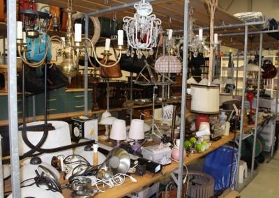 Tweedehands lampen collectie